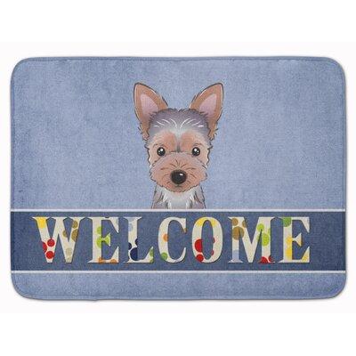 Yorkie Puppy Welcome Memory Foam Bath Rug