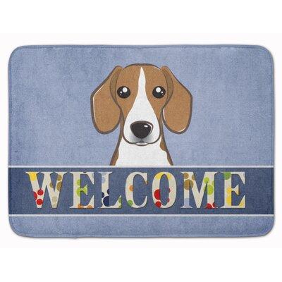 Beagle Welcome Memory Foam Bath Rug
