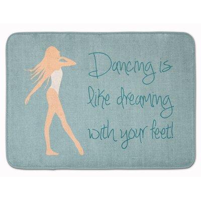 Dancing is Like Dreaming #2 Memory Foam Bath Rug Color: Cream