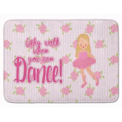 Ballet Long Blonde Hair Memory Foam Bath Rug