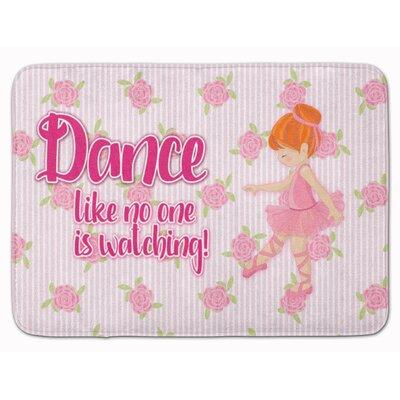 Ballet Dance Brunette Memory Foam Bath Rug Color: Orange