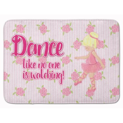 Ballet Dance Brunette Memory Foam Bath Rug Color: Yellow