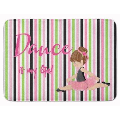 Ballet Dance is my Life Brunette Memory Foam Bath Rug Color: Brown