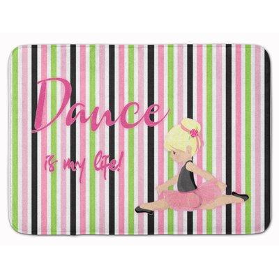 Ballet Dance is my Life Brunette Memory Foam Bath Rug Color: Yellow