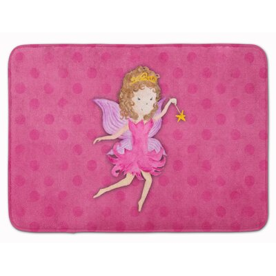 Bobbie Fairy Princess Watercolor Memory Foam Bath Rug