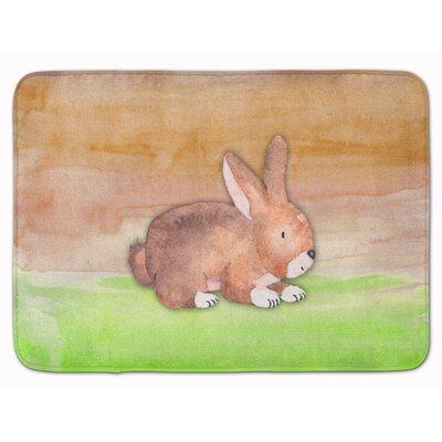 Beulah Rabbit Watercolor Memory Foam Bath Rug