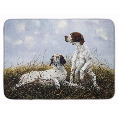 English Pointer by Michael Herring Memory Foam Bath Rug