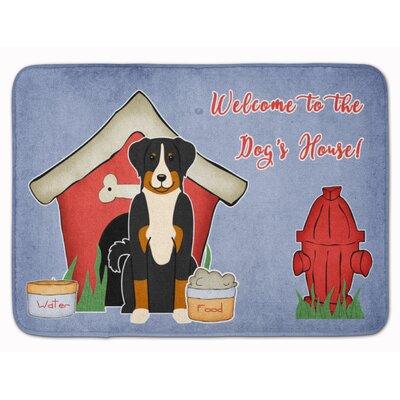 Dog House Appenzeller Sennenhund Memory Foam Bath Rug