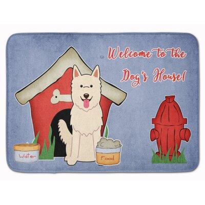 Dog House German Shepherd Memory Foam Bath Rug
