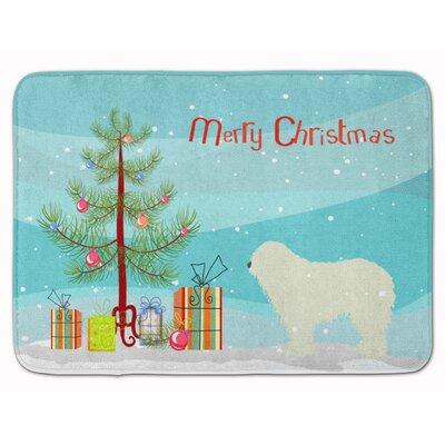 Komondor Merry Christmas Tree Memory Foam Bath Rug