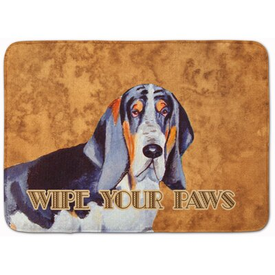 Basset Hound Wipe Your Paws Memory Foam Bath Rug