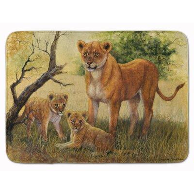 Malizia Lion and Cubs by Daphne Baxter Memory Foam Bath Rug