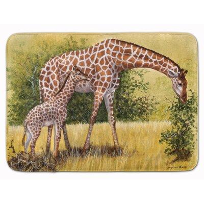 Lockheart Giraffes by Daphne Baxter Memory Foam Bath Rug