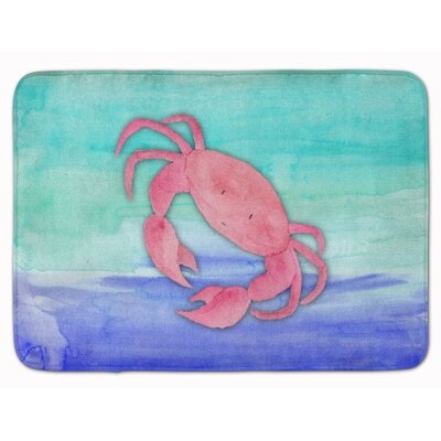 Bobbi Crab Watercolor Memory Foam Bath Rug