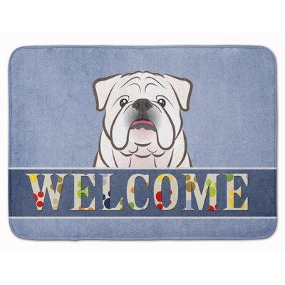 English Bulldog Welcome Memory Foam Bath Rug
