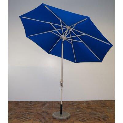 9' Market Umbrella Frame Finish: Aspen, Fabric: Pacific Blue