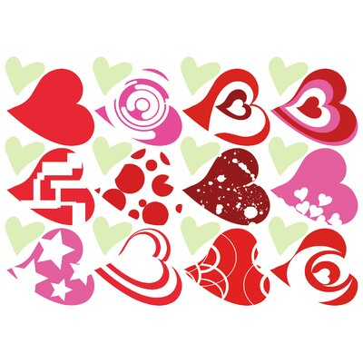Imagicom Heart Flowers Wall Sticker