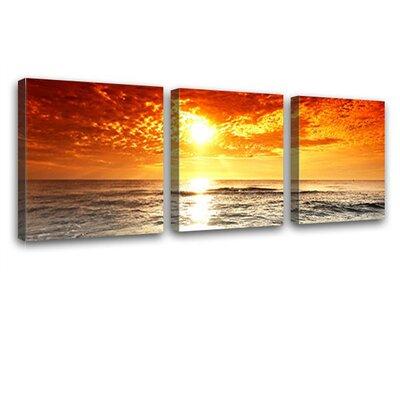 LanaKK The Sea 3 Piece Photographic Print on Canvas Set
