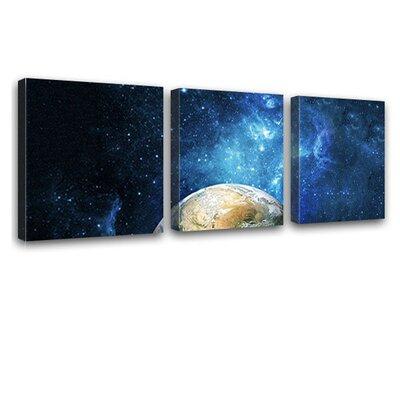 LanaKK Earth 3 Piece Photographic Print on Canvas Set