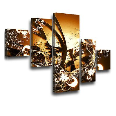 LanaKK Blossom Graph 5 Piece Graphic Art on Canvas Set