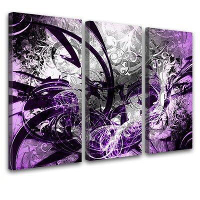LanaKK Jungle Graph 3 Piece Graphic Art on Canvas Set