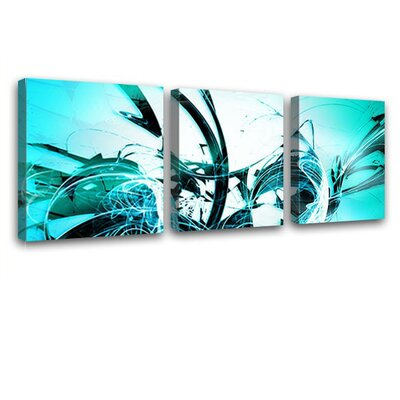 LanaKK Graph 3 Piece Graphic Art on Canvas Set