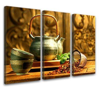 LanaKK Teatime 3 Piece Photographic Print on Canvas Set