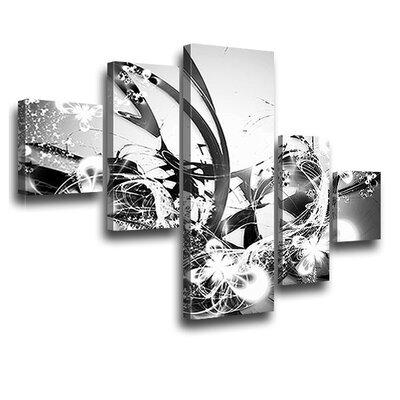 LanaKK Blossom Graph 5 Piece Graphic Art on Canvas Set