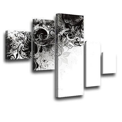 LanaKK Jungle Drum 5 Piece Graphic Art on Canvas Set