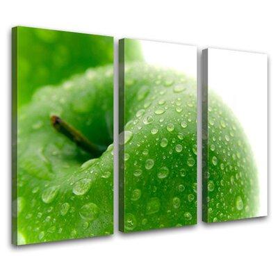 LanaKK Apple 3 Piece Photographic Print on Canvas Set