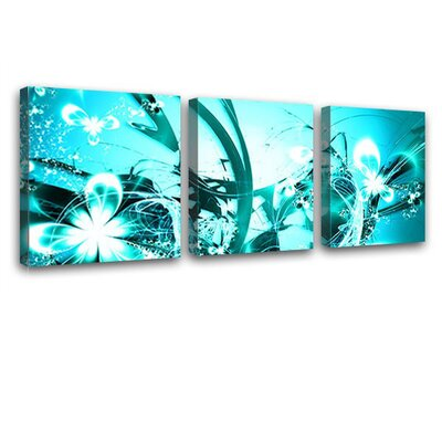 LanaKK Blossom Graph 3 Piece Graphic Art on Canvas Set