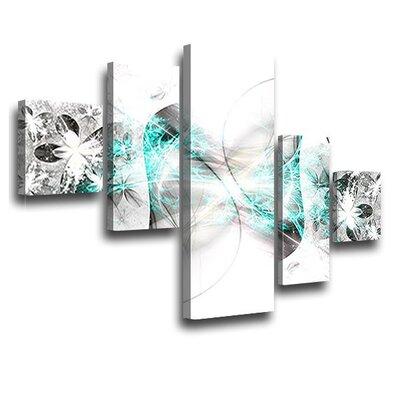 LanaKK Stars 5 Piece Graphic Art on Canvas Set