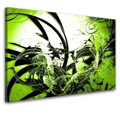 LanaKK Wild Graph Graphic Art on Canvas