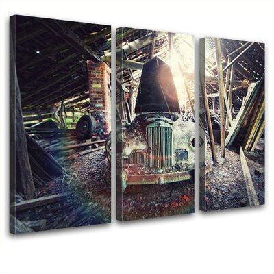 LanaKK Barn 3 Piece Photographic Print on Canvas Set