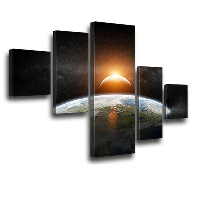 LanaKK Sunshine 5 Piece Graphic Art on Canvas Set