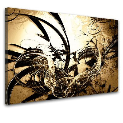 LanaKK Wild Graph Graphic Art on Canvas