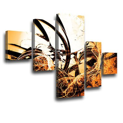 LanaKK Wild Graph 5 Piece Graphic Art on Canvas Set