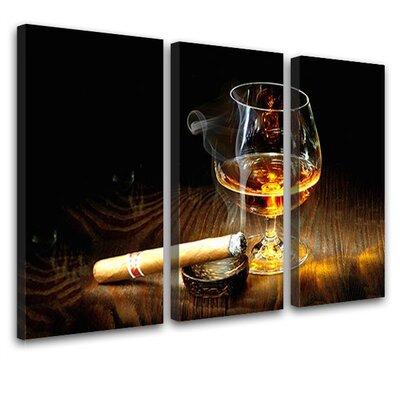 LanaKK Cognac 3 Piece Photographic Print on Canvas Set