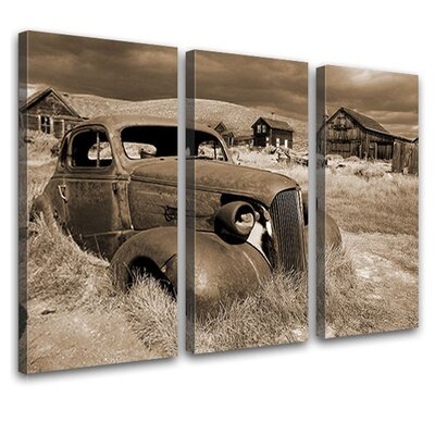 LanaKK Barn Treasure Nostalgia 3 Piece Photographic Print on Canvas Set