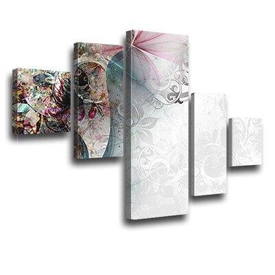 LanaKK Magic 5 Piece Graphic Art on Canvas Set