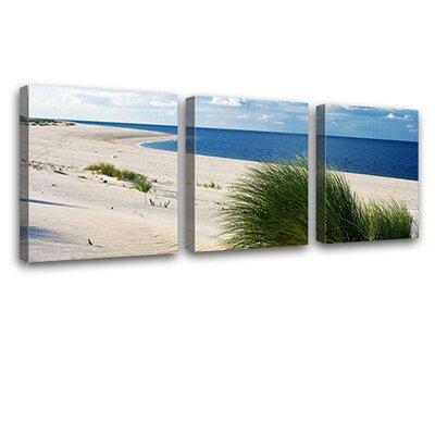 LanaKK Island Dunes 3 Piece Photographic Print on Canvas Set