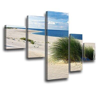 LanaKK Island Dunes 5 Piece Photographic Print on Canvas Set