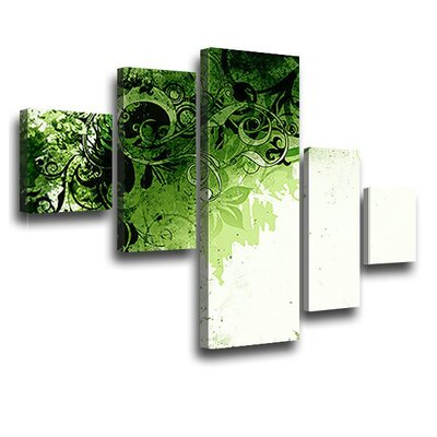 LanaKK Jungle Drum 5 Piece Graphic Art on Canvas Set