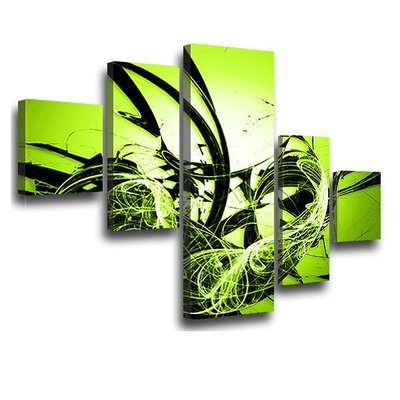 LanaKK Graph Apple 5 Piece Graphic Art on Canvas Set