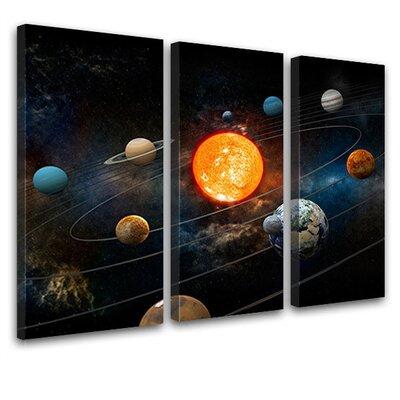 LanaKK Solar System 3 Piece Photographic Print on Canvas Set