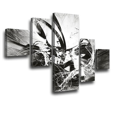 LanaKK Graph Fire 5 Piece Graphic Art on Canvas Set