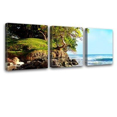 LanaKK Caribbean Island 3 Piece Photographic Print on Canvas Set