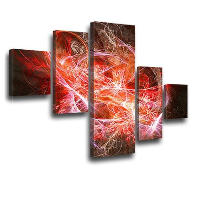 LanaKK Tension 5 Piece Graphic Art on Canvas Set