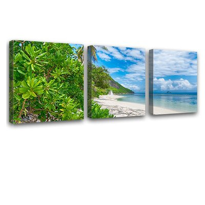 LanaKK Holiday Desire Sunglow 3 Piece Photographic Print on Canvas Set