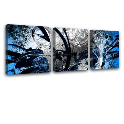 LanaKK Jungle Graph 3 Piece Graphic Art on Canvas Set